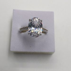 4 CARAT AAA CUBIC ZIRCONIA Stamped925 size10 RING